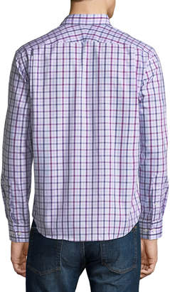Neiman Marcus Classic-Fit Dobby Check Sport Shirt, Pink