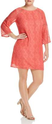 Adrianna Papell Plus Marni Lace Shift Dress