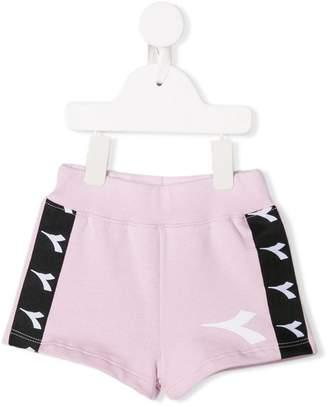 Diadora Junior logo stripe shorts