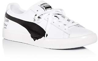 Puma x Shantell Martin Women's Clyde Leather Lace Up Sneakers