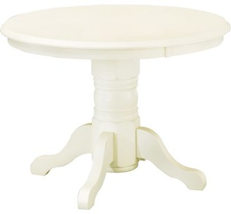 Homestyles Home Styles Round Pedestal Dining Table, Antique White