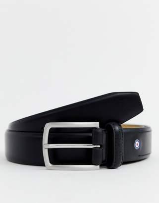 Ben Sherman target logo belt in black