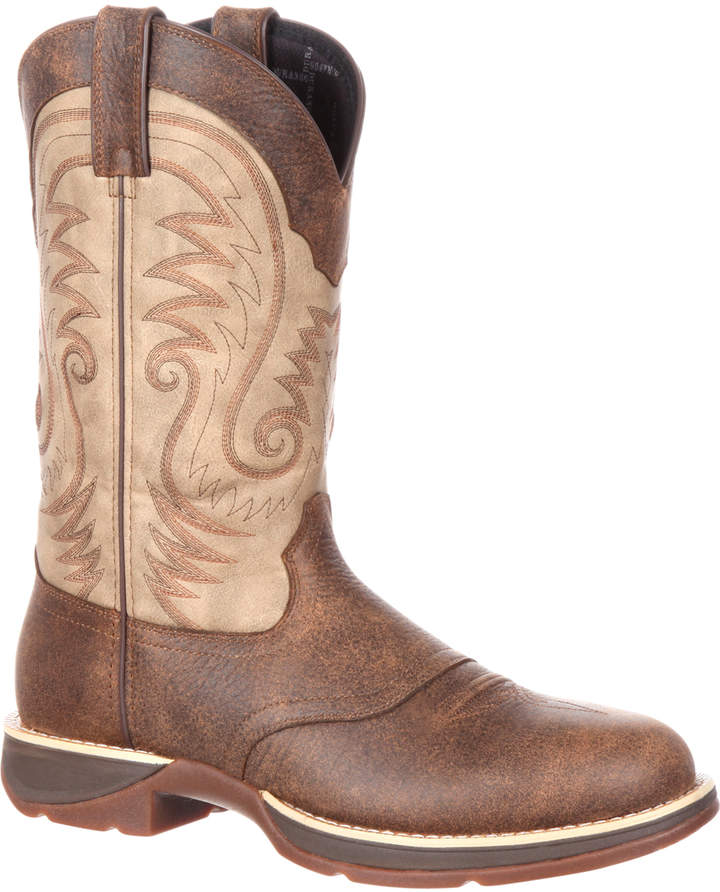 Distressed Brown & Tan Rebel by Durango Leather Cowboy Boot - Men