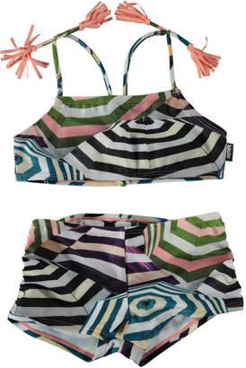 Molo Nadetta Parasol-Print Sporty Bikini Swim Set Size 3T-14