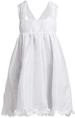 Cecilie Bahnsen - Pil Ruffle Trimmed Satin Mini Dress - Womens - White