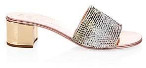 Giuseppe Zanotti Women's Ombré Crystal Stud Mules