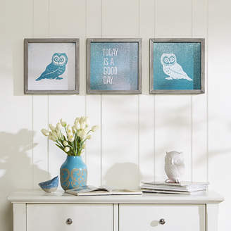 INTELLIGENT DESIGN Intelligent Design Wise As An Owl Gel Coat 3-pc. Canvas Art