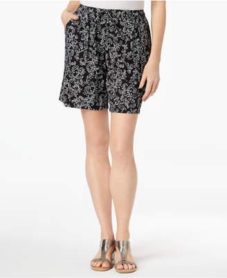 Karen Scott Print Shorts, Created for Macy's