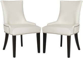 Safavieh Lester 2-piece Faux-Leather Dining Chair Set