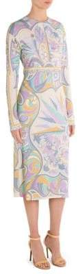 Emilio Pucci Silk Palm Tree Dress