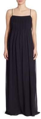 Vince Pintuck Silk Gown