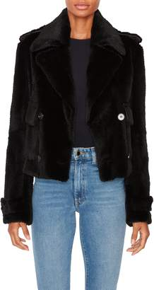 Pologeorgis Black Rabbit Fur Peacoat