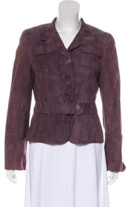 Akris Punto Suede Button-Up Jacket