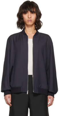 3.1 Phillip Lim Blue Relaxed Wool Bomber Jacket