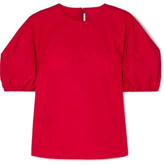 Rosetta Getty Cotton-poplin Top - Red