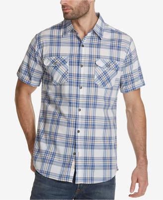 Weatherproof Vintage Men's Madras Plaid Pocket Shirt