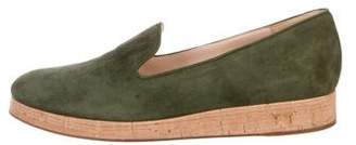 Gianvito Rossi Suede Platform Loafers