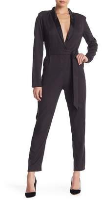 Do & Be Do + Be Tuxedo Notch Collar Jumpsuit
