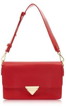 Marc B Red 'Tina' Triple Compartment Shoulder Bag