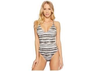 LaBlanca La Blanca Bamboo Stripe Strappy Back One-Piece Women's Swimsuits One Piece