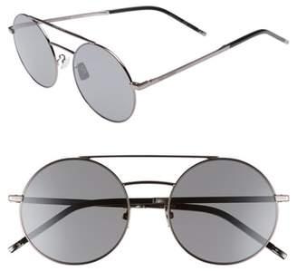 Saint Laurent SL 210/F 56mm Round Aviator Sunglasses