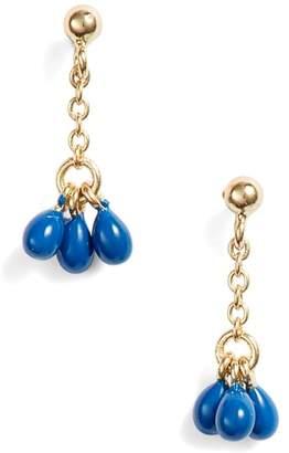 Argentovivo Small Enamel Drop Earrings