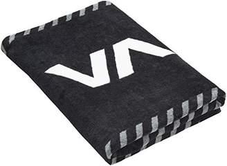 RVCA (ルーカ ユニセックス ] スポーツタオル (大きめ サイズ) [ AI041-936 / TOWEL ] 海 プール かわいい AI041-936 BLK BLK_ブラック F