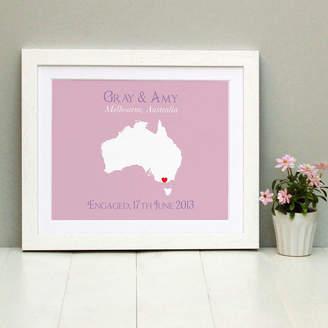 Brambler Engaged In Australia Personalised Print