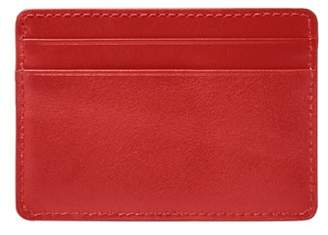 Fossil Ronnie Card Case Wallets Red