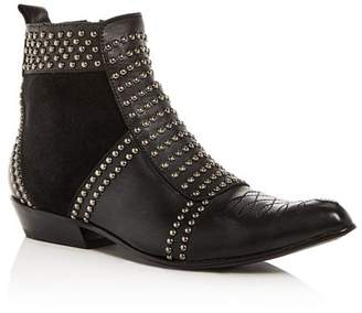Anine Bing Women's Charlie Studded Western Pointed-Toe Booties