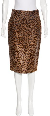 Ralph Lauren Collection Leopard Print Fur Skirt w/ Tags