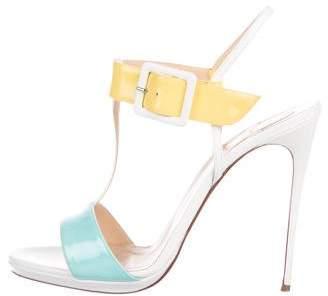 Christian Louboutin Patent Leather Color Block Sandals