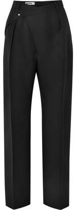 Jil Sander Wool-crepe Straight-leg Pants - Black