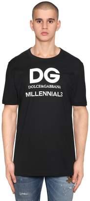 Dolce & Gabbana Logo Millennials Printed Jersey T-Shirt