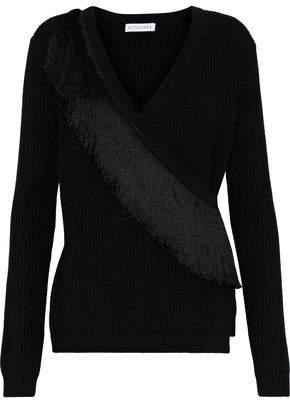 Altuzarra Daumier Fringe-Trimmed Ribbed Wool Wrap Cardigan