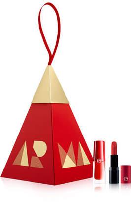Giorgio Armani Red Lip Duo Ornament Set