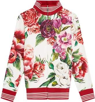 Dolce & Gabbana Floral Zipped Sweatshirt