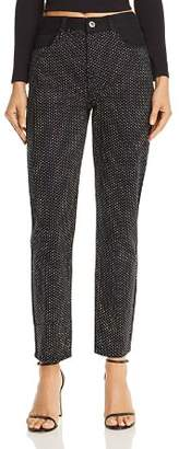 Pistola Nico High-Rise Embellished Straight-Leg Jeans in Silver Lining - 100% Exclusive