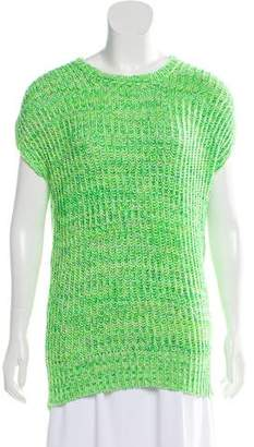 Stella McCartney Rib-Knit Cap Sleeve Top