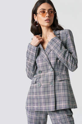 Na Kd Trend Button Detail Checkered Blazer