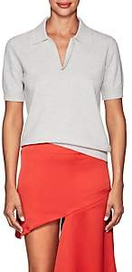 Maison Margiela Women's Wool Polo Shirt-Light Gray