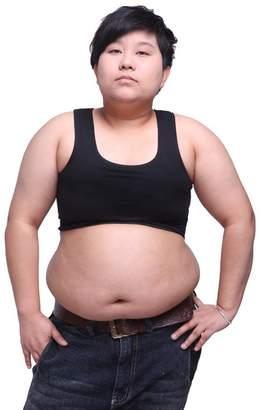 9c4f0a5d04d78 BaronHong Tomboy Trans Lesbian Cotton Chest Binder Plus Size Short Tank Top (