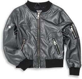 Urban Republic Girl's Metallic Bomber Jacket