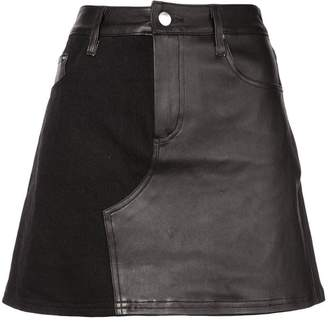 Amiri contrast mini skirt