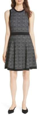 Kate Spade mod plaid sleeveless sweater dress