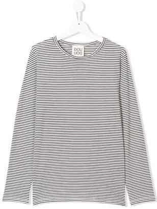 Douuod Kids longsleeved striped T-shirt