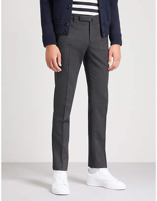 SLOWEAR Slim-fit tapered wool-blend trousers