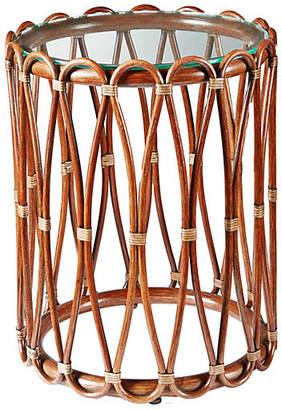 """Selamat Ella 16"""" Round Side Table - Cinnamon"""