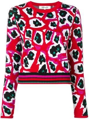 Diane von Furstenberg printed knit jumper