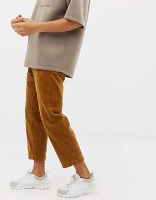 Pull&Bear cord wide leg pants in tan